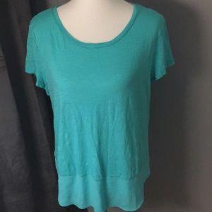 Turquoise Express Short Sleeve Shirt Size Large